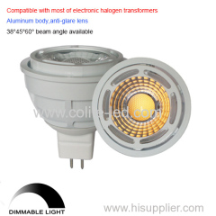 Dimmable MR16 7W LED bulb
