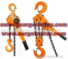 Lever chain hoist price list