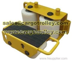 Machinery mover skates is easy to operate