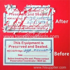 Permanent self adesive eggshell labels with strong adhesive
