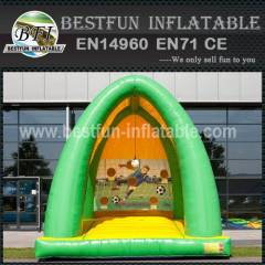 Inflatable soccer goal product