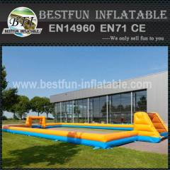 Cheap inflatable outdoor soccer field