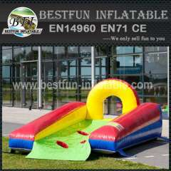 Soccer goal with inflatable bed