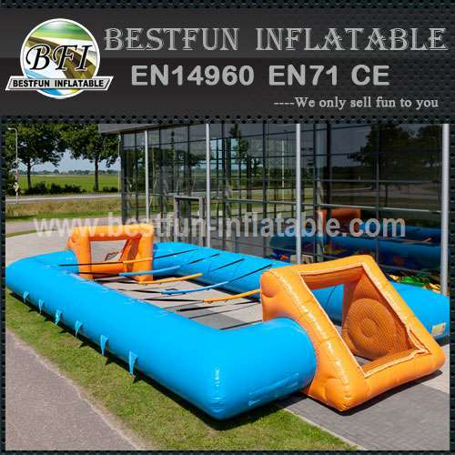 Inflatable soccer goal post