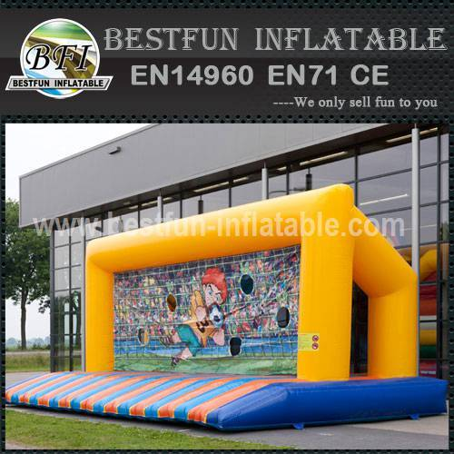 Commercial inflatable soccer goal