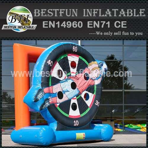 Inflatable soccer shooting kick