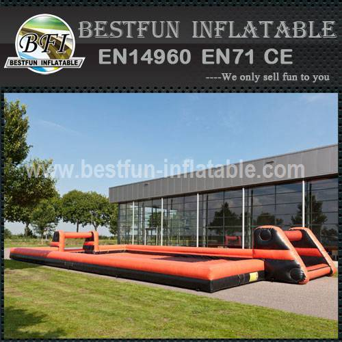Inflatable soccer goal with net