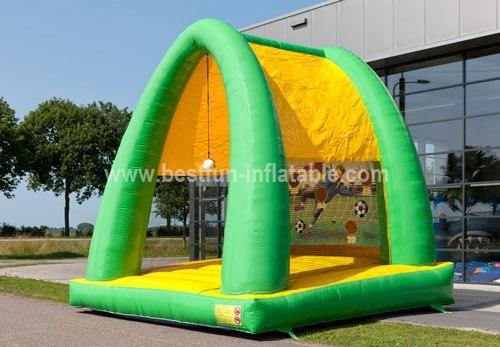 Acrobatic inflatable shooting game