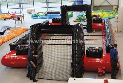 Human Foosball inflatable structure with bars