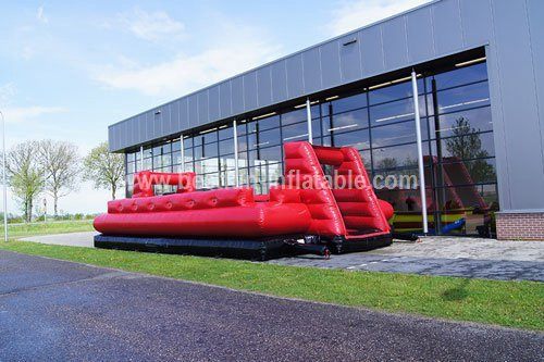 Structure inflatable human foosball red n black