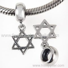 2014 Fashionable European Sterling Silver Dangle Star Charm Wholesale
