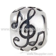 European Style Sterling Silver Music Note Beads Wholesale
