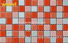 Romantic Red Crystal Glass Mosaic Tiles , Glass Mirror Mosaic Tiles For KTV