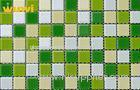 Fade - Resistant Bathroom Iridescent Glass Mosaic Tile For Wall Covering