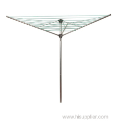 3-arm powder coated rotary clothes line airer