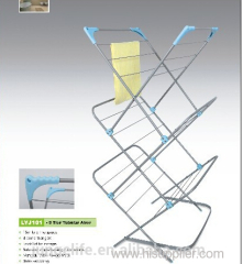 coated clothesline drying rack