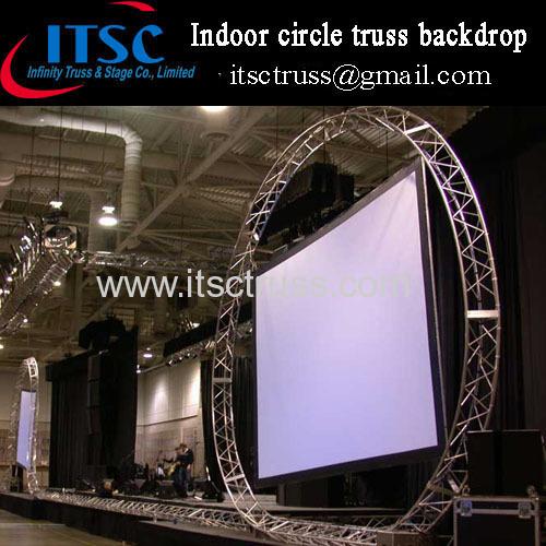 Indoor circular truss backdrop for Projector screen