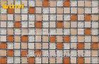 Proffesiona Hotel Wall Glass and Stone Mosaic Tile With Orange Ceramic Chip