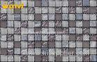 Washables Indoor Glass Ceramic Mosaic Tiles / Kitchen Floor Ceramic Tile
