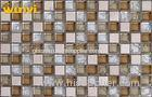 Background Wall Broken Glass And Stone Mosaic Tile , Glass Ceramic Tiles