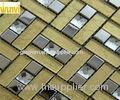 Abrasion - Resistant Gold Mosaic Bathroom Tiles With13 Facets Crytal Mosaic Chips