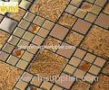 Proffesional Non - Toxic Square Iregular Gold Glass Mosaic Tiles With CE