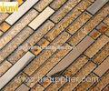 OEM durable BedRoom Wall Decoration Metallic Linear Glass Mosaic Tiles