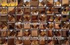 Antioxidant Golden Glass Mosaic Bathroom Wall Tiles With 13 Facets