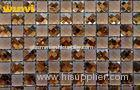 Heat Insulation Glazed Bathroom Mosaic Wall Tiles With Mosaic Mirror Patterns