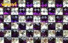 Unique Purple Laminated Mirror Glass Mosaic Floor Tiles With Acid - Proof