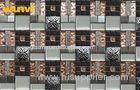 Colorful Heat Resistant Glass And Metal Mosaic Tile For Bathroom Walls