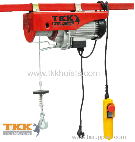 CE standard Single Phase Mini Cable Hoist With Upper and Lower Limit Switch 400KG