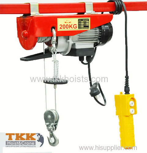 Electric Cable Hoist 110v : Tkk construction mini electric wire rope hoist with double
