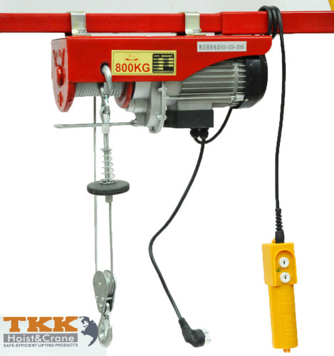 110V PA800kg Single phase Mini Electric Hoist