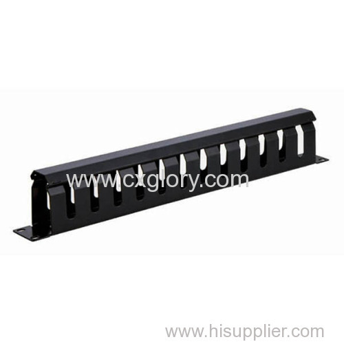 """12 Ring 1u 19"""" Cable/Wire Management Panel"""