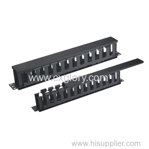 Plastic 1u 12 Ring Cable Manager