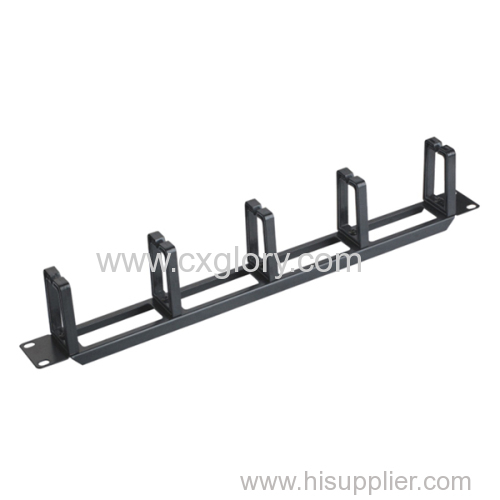 19 Inch 1u Cable Manager with 5 Rings