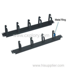 1u 19 Inch Cable Cable Manager with 4/5 Rings