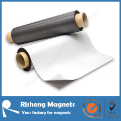 Flexible magnetic sheet adhesive backed rubber magnet printable magnetic sheet