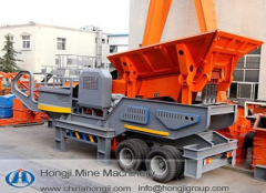 Efficiency mobile jaw crusher