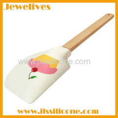 Hot selling silicone spatula with wooden handle