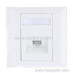 1 Port Sc Style Fiber Optic Faceplate