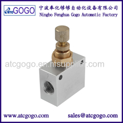 Silver pneumatic air flow speed control valve low pressure check valve