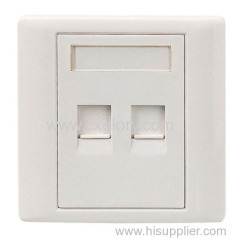 AMP Type RJ45 Dual Port Faceplate