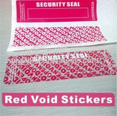 Custom water proof indestructible warranty Security void Labels Security open void seal stickers with serials numbers