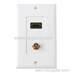 for HDMI RCA Face Plate with High Quality