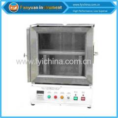 Automotive interior materials flammability tester