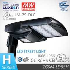 CE/RoHS certified 65W LED street light with dimming function and over than 50000hrs life span