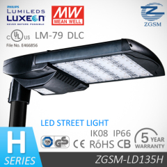 CE/GS/CB certificated 135W LED street light with 5 year warranty