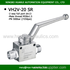 Hydraulic ball valve cf8m ball valve 2 way full port male thread type